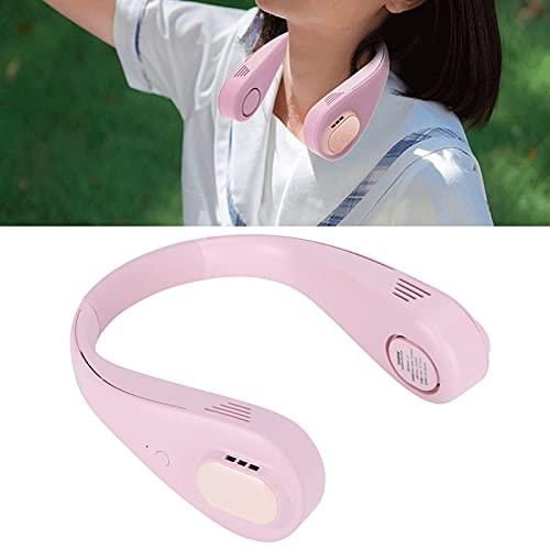 FOLOSAFENAR Ventilador para Exteriores, Ventilador de Cuello portátil silencioso con Carga USB para el Aula para el Campamento para el Deporte al Aire Libre para la Oficina