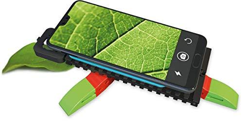 Die Smartphone-Lupe für junge Entdecker - fischertechnik Smart SuperZoom - Gegenstände werden durch das flexible Handymikroskop bis zu 26-fach vergrößert – inkl. Linse und Vakuumpad für perfekten Halt