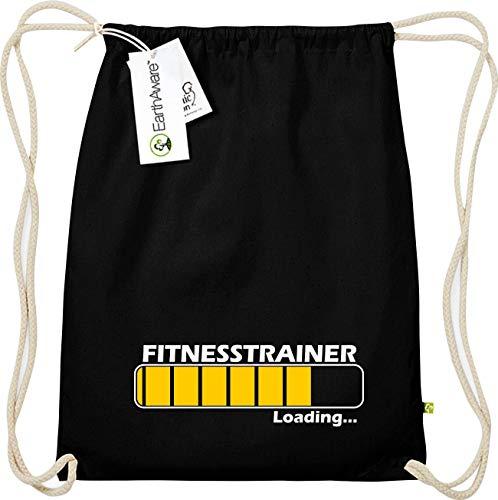 Shirtinstyle Organic Gymsac, Loading Fitnesstrainer Beruf, Ausbildung Abschluss Job Kollegen, Bio Fairtrade, Sprüche Spruch Logo Motiv, Turnbeutel, Farbe Schwarz