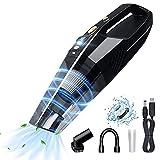 Aspirador de Mano sin Cable Potente-Aspiradoras 8000PA 120W,Aspirador de Mano con Luz LED y Carga Rápida,Aspirador en Seco y Hmedo para Oficina Hogar y Coche