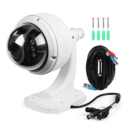 AYNEFY PTZ Dome Camera AHD 1080P 5X ZOOM Outdoor PTZ Speed Dome Security Camera IP66 Impermeabile Protezione Night Vision IR Cam, 23.0 x 12.5 x 21.5 cm / 9.1 x 4.9 x 8.5 pollici