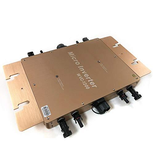 WVC 1200W MPPT Wechselrichter   Spannungswandler  Solar Micro PV Inverter   Wasserdicht Wechselrichter für Sonnenkollektor, Gold