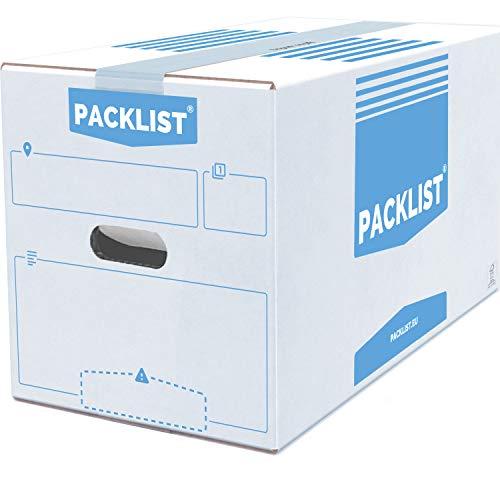 PACKLIST 10 Cajas Cartón Mudanza Personalizables + APP Inventario y PDF - Cajas Mudanza Grandes Ultra Resistentes 500x300x300mm Cajas de Mudanzas Ecológicas - Caja de Almacenaje con Certificado FSC