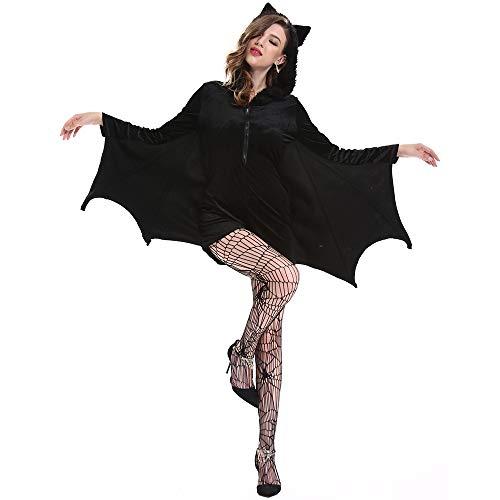 MeiDao Disfraz de Halloween para Mujer Disfraz de ngel Oscuro Sexy Disfraz Malvado Novia Fantasma,M