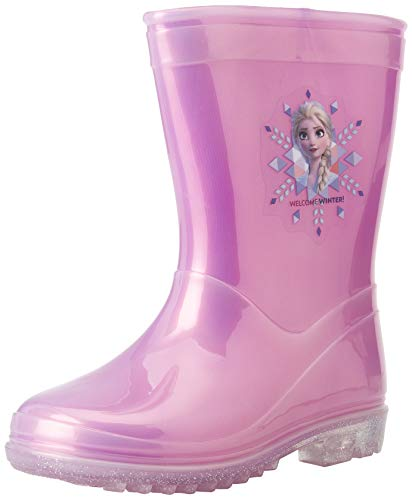 CERDÁ LIFE'S LITTLE MOMENTS 2300004637_T028-C56, Botas de Agua Elsa con Luces de Frozen-Licencia Oficial Disney, Rosa, 28 EU