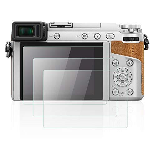 Mwoot 3 Stück Schutzfolie aus Glas für Panasonic Lumix GX85/GX80, G80/G85, FZ2000/FZ2500, G7/FZ300, LX10/LX15,9H Festigkeit Kratzfest Bildschirmschutzglas