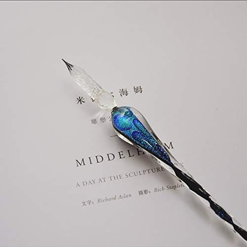 Bolígrafo de cristal esmaltado, rotulador de cristal hecho a mano creativo, elegante esmalte, bolígrafo Big Dipper, bolígrafo celeste chino antiguo, bolígrafo oriental mágico. 18.3cm