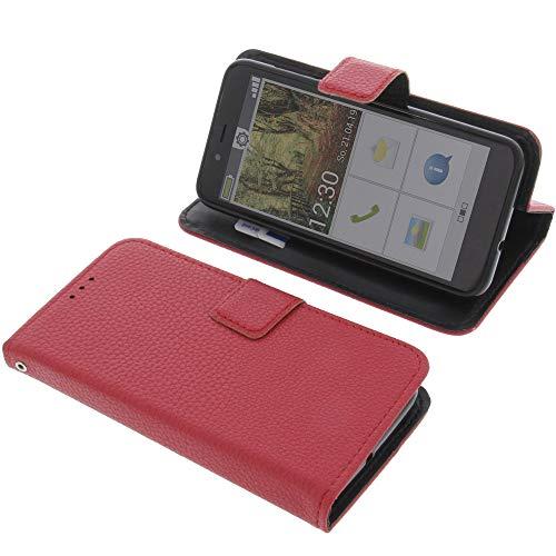 foto-kontor Tasche für Emporia Smart 3 Mini Book Style rot Schutz Hülle Buch