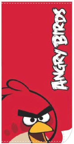 Asciugamano Angry Birds - Telo Mare Rosso - 140 x 70 cm