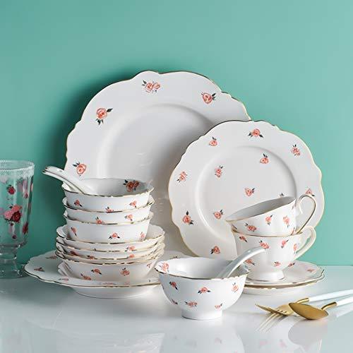 NXYJD Vajilla de cerámica Set Tazos y Platos Combinación de hogares, Creative Western Steak Breakfast Placa
