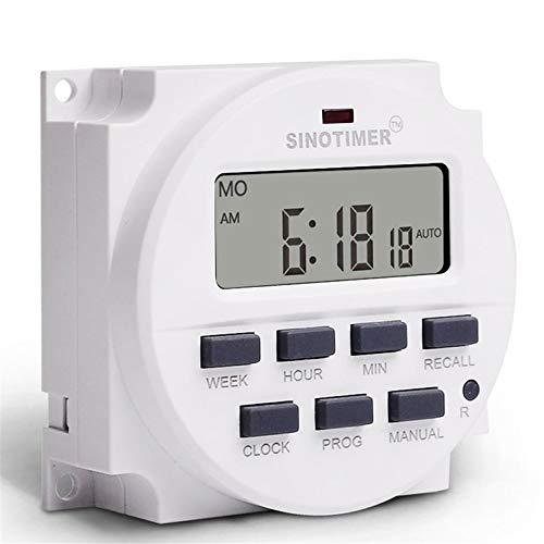SINOTIMER TM618N-2 220 V LCD Digital AC Interruptor temporizador programable con UL listado relé interior con función de tiempo de cuenta atrás