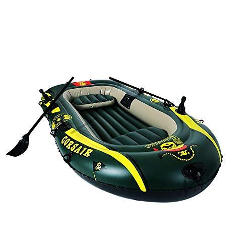 YYSYN Bote Inflable Canoa Kayak De Balsa con Bomba Inflable Bote De Remos De Cuerda para Adultos, Bote De Pesca Portátil
