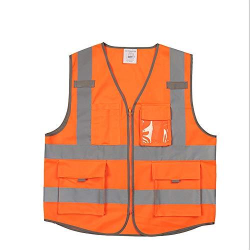 Workmans reflecterend vest heren veiligheidsvest oranje kleur veiligheidsvest met zakken jas met reflecterende strepen veiligheidsvest zichtbaarheid Executive werk veiligheid