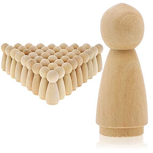 "70 Wood Craft Blocks Natural Wooden Unfinished Hardwood Blocks Square 0.6/"" Cubes"