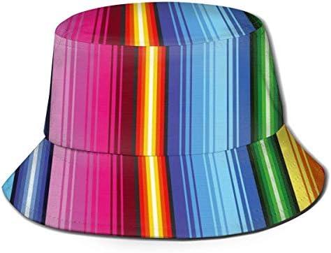 Henry Anthony Mexicaans Patroon Kleurrijke Regenboog Latijn Etnische Unisex Emmer Hoed Zomer Visser Cap One Size