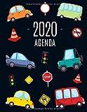 Carros Agenda 2020: Planificador Mensual que Inspira Productividad | Con Calendario Mensual 2020