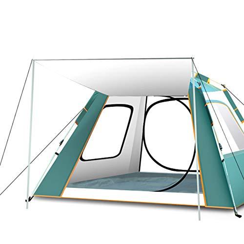 Sombrilla De Cuatro Lados para Acampar Completamente Automática Y Tienda De Pesca A Prueba De Lluvia,Verde,94 * 94 * 61in