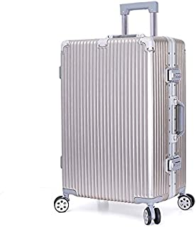 """SRY-Luggage ABS + PC Material Simple Trolley Case, Super Storage Bag, Roller Walking Rolling Box, 20"""" 24"""" Inches Durable. Carry on Luggage (Color : Gold, Size : 20inch)"""