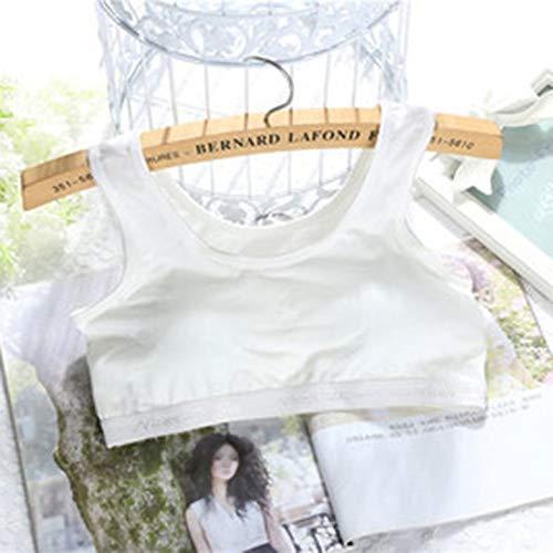 BianchiPatricia Pure Cotton Teen's Bra Vest Type Children Underwear for 12-18 Year-Old...