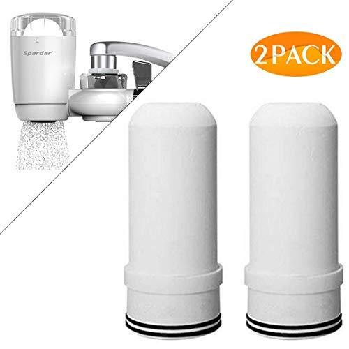 Spardar Wasserhahn-Filtersystem, ultra-adsorptives Material, passend für Standard-Wasserhähne 2er-Set