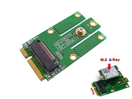 KALEA-INFORMATIQUE M.2 (M2 NGFF) WiFi Bluetooth 4.0 card to mini PCIe (mPCIe USB) Adapter für Intel 7260NGW