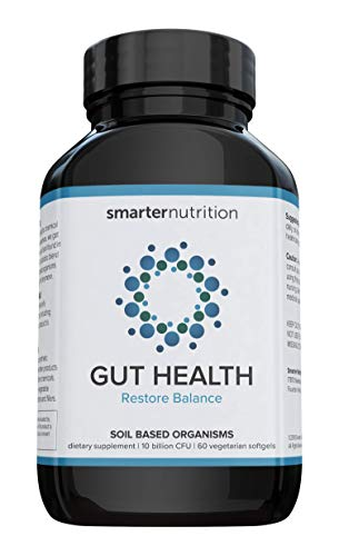Smarter Gut Health Probiotics - Superior Digestive & Immune Support from 100% Soil-Based Probiotic - Includes Premium Prebiotic Preticx to Help Keep Good Bacteria Healthy & Growing (30 Servings)