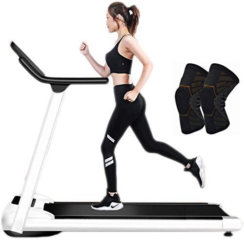 Folding Under Desk Laufband, Sportstudio im Hause Büro Walkpad, Compact Gehen, laufende Maschine, kein Lärm & Comfortable Fitnessgeräte,Knee Pads L