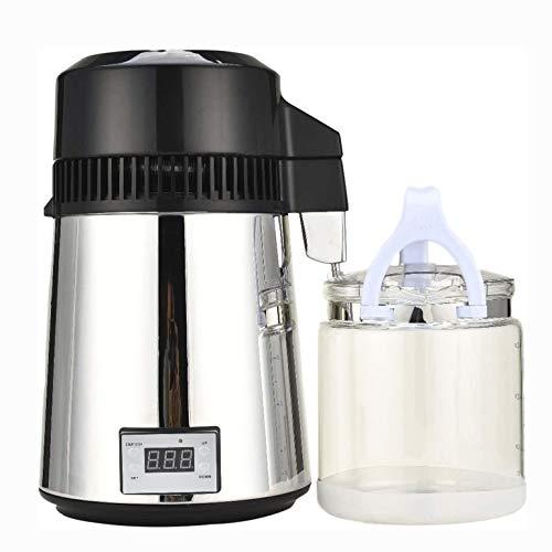 CARACHOME 4L Wasserdestilliermaschine, 800W Edelstahl Wasseraufbereiter Filter Wasserdestilliermaschine mit Auffangflasche für Privathaushalte und Büros