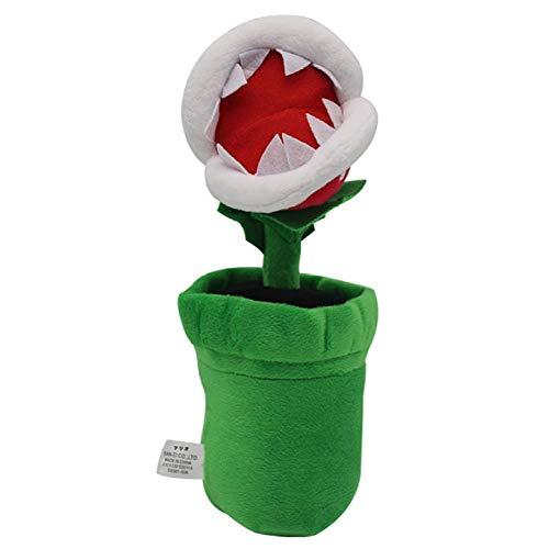 Piranha Topfpflanze Plüsch Spielzeug Weiche Anime Gefüllte Puppe Geburtstag Weihnachten Tag Geschenk Green 26cm Laimi