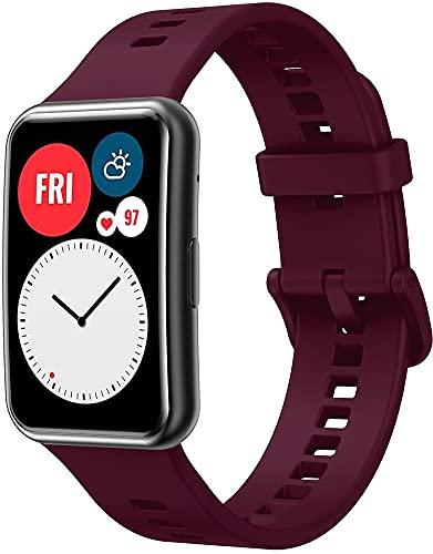 Classicase Correa de Reloj Recambios Correa Relojes Caucho Compatible con Huawei Watch Fit/Huawei Fit - Silicona Correa Reloj con Hebilla (Pattern 13)