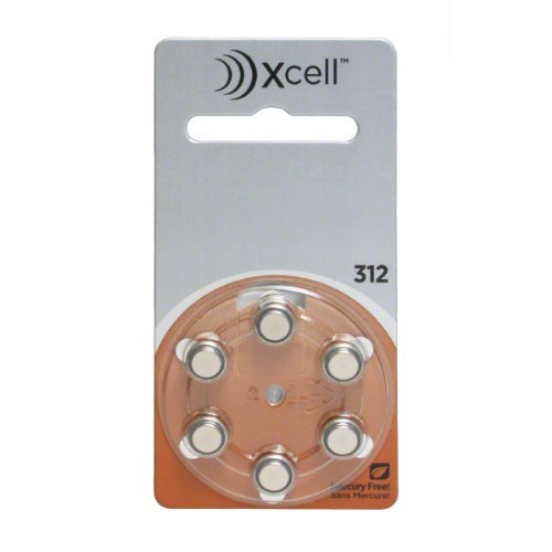 Rayovac Mercury Free Xcell Size 312 Hearing Aid Batteries (60 Batteries) + Keychain