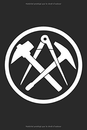 Symbole de couvreurs dans un cercle: Cahier de cadeaux de toiture symboles de la guilde des artisans grille de points en pointillés (format A5, 15,24 x 22,86 cm, 120 pages)