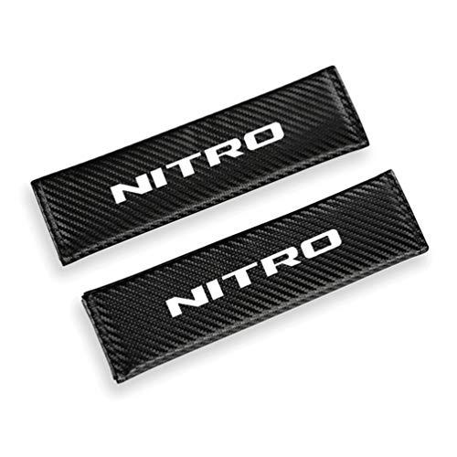 Para Dodge NITRO Pu Moda CinturóN De Seguridad De Coche Hombreras Reflectante Seguridad ConduccióN Cubierta De CinturóN De Seguridad Accesorios De Coche 2 Uds