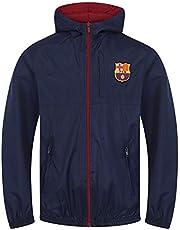 FC Barcelona - Chaqueta cortavientos oficial - Para niño - Impermeable - Estilo retro