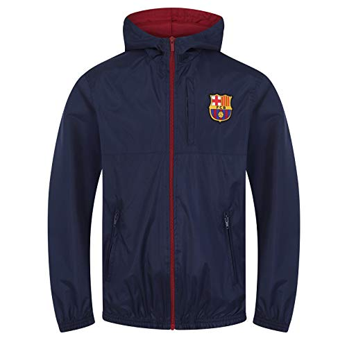 FC Barcelona Official Football Gift Boys Shower Jacket Windbreaker 8-9 Years MB Navy Blue