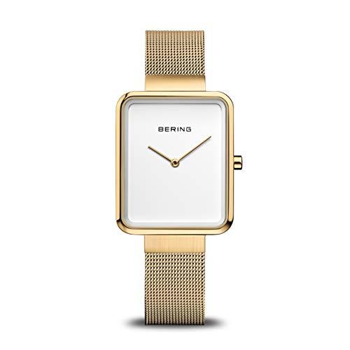 BERING Damen Analog Quartz Uhr mit Edelstahl Armband 14528-334