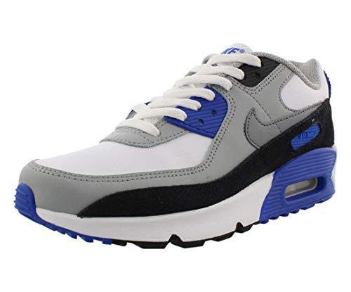 Nike Air Max 90 LTR, Scarpe da Corsa Unisex-Adulto, Gris Humo Claro/Bianco//Plata Metalizado, 38 EU