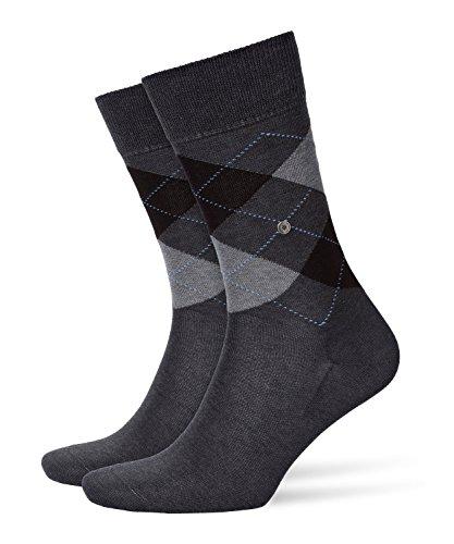 BURLINGTON Herren Socken Manchester - 85% Baumwolle, 1 Paar, Grau (Anthracite Melange 3095), Größe: 40-46