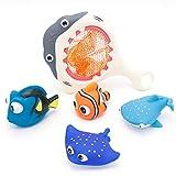 Juguetes de baño de tiburones, animales submarinos, adecuados para juguetes de playa en baños, piscinas