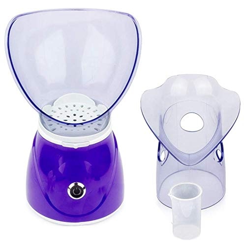 Moligh doll Gesichts Steamer Professioneller Dampf Inhalator Gesichts Sauna Spa für Gesichts Feuchtigkeits Creme - Sinus mit Aromatherapie EU Stecker