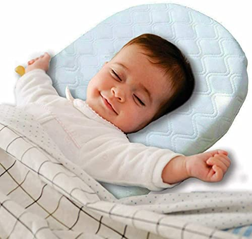 Brillars® Baby Wedge Pillow for Infant, Toddler Reflux Sleep - Colic & Congestion Nights Safety - Universal Bassinet Pram Moses Basket Stroller Crib Cot Bed 31cm x 29cm x 7.5cm