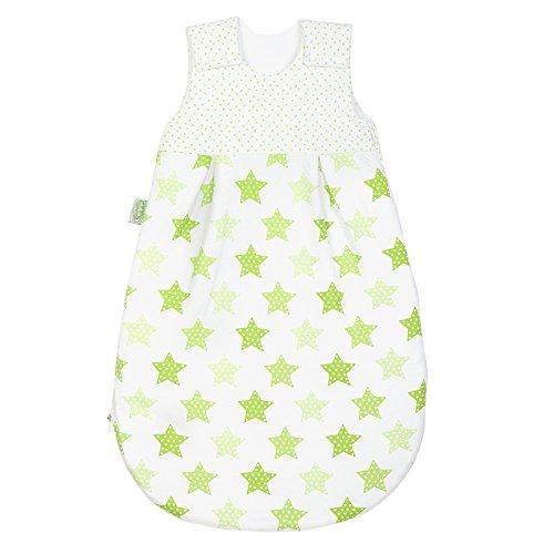 Odenwälder Babynest Jersey-Schlafsack Basic 1425 Gr. 90 cm Sterne limette