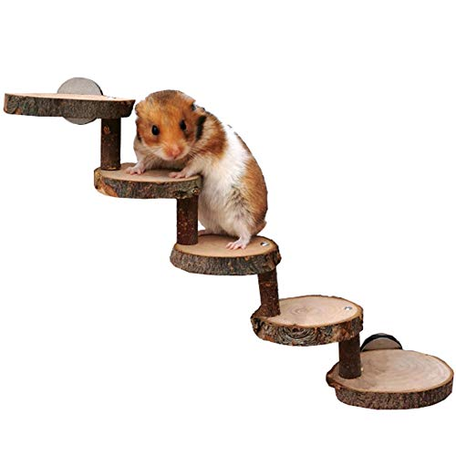 Hamster Escala De Madera Guinea Pig Rampa Paso Natural Pet Chinchilla Rampa De Escalera Pequeña para Mascotas Juguetes para Roedores