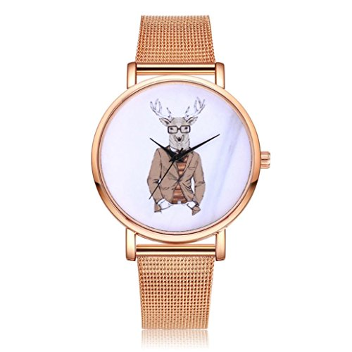 Armbanduhr 2018 Damen Uhren Uhrenarmband Uhr für Weibliche Studenten Armbanduhr Armband Uhr Edelstahl Armband Watch Stahl Analoge Quarz Armbanduhr Uhr Uhrenarmband LMMVP (C)