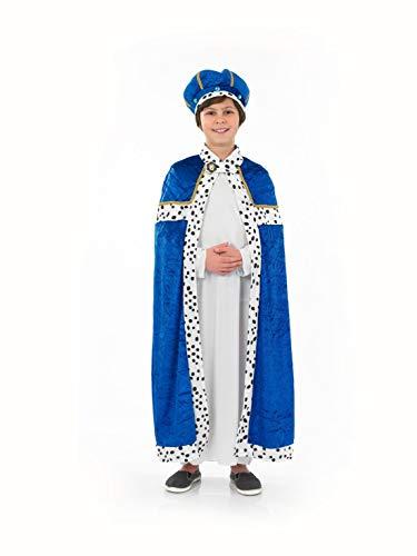Fun Shack Disfraz de Rey Mago para niño. Conjunto Azul navideño de los Reyes Magos para el belén, Talla XL