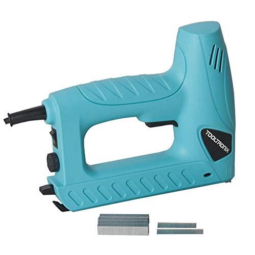 TOOLTRONIX Electric Tacker Stapler Brad Nail Gun 2-in-1 Staple Nailer KI