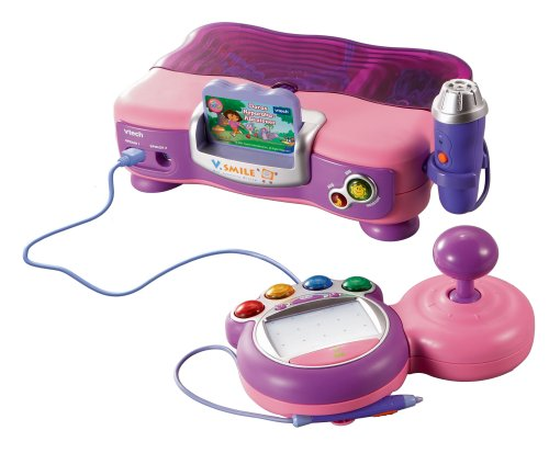 Vtech 80-075254 - V.Smile Lernkonsole pink inkl. V.Smile Lernspiel Dora