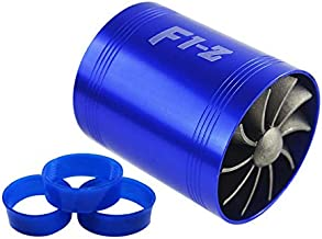 PTNHZ RACING F1-Z Double Car Supercharger Turbine Turbo Charger Air Intake Gas Fuel Saver Fan Blue