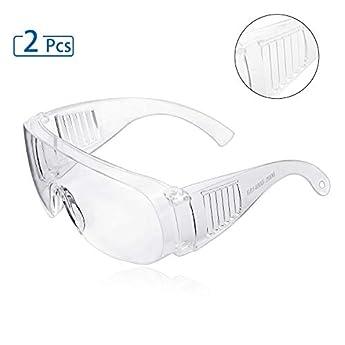 Foto di Occhiali protettivi, ZHIKE Clear Occhiali antiappannamento e antigraffio per lavoro e sport, uomini, donne (2 pezzi)