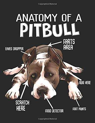 """Anatomy of a Pitbull: Planner Weekly and Monthly for 2020 Calendar Business Planners Organizer For To do list 8,5"""" x 11"""" with American Pitbull Terrier Dog Doggy Lover Pet Animal 1"""